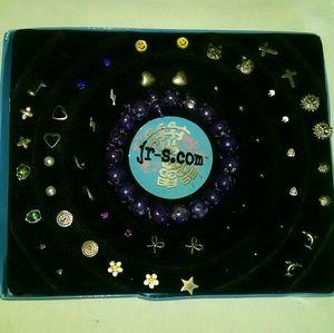 Beautiful multi earring sets bracelet